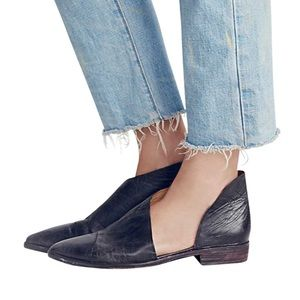 """New Free People """"Royale"""" Leather Pointed Toe Flat"""